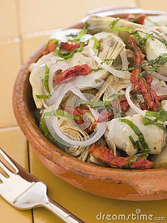 Marinated Baby Artichokes Tomato Vinaigrette