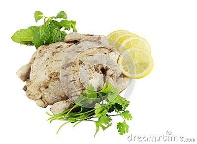 Marinated chicken ready to roast