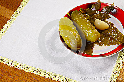 Marinated cucumbers