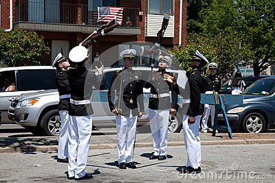 Marine Academy s Drill Team Editorial Stock Photo