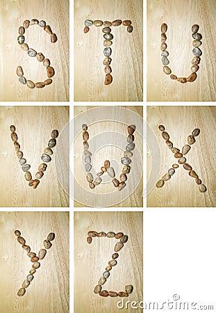 Marine alphabet S-Z