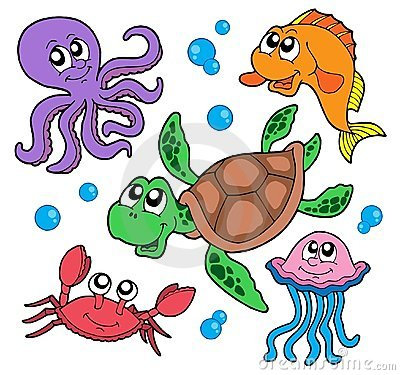 Free Marine Animals Collection Stock Photography - 5970922