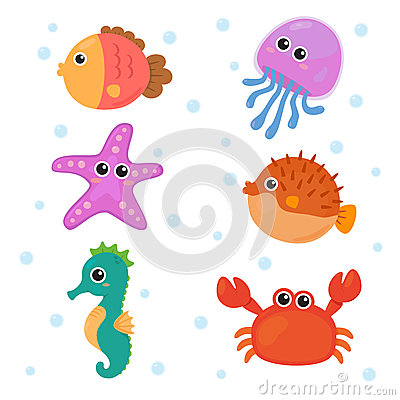 Free Marine Animals Sets Royalty Free Stock Photography - 38565337