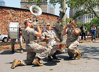 Marine band. Editorial Photography