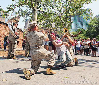 Marine band Editorial Stock Image