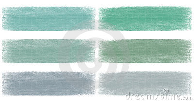 Marine blue and green faded grunge banner set