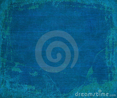 Marine blue grunge ribbed wood background