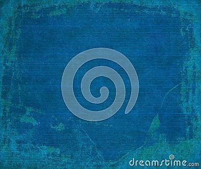 Marine blue grunge ribbed wood background