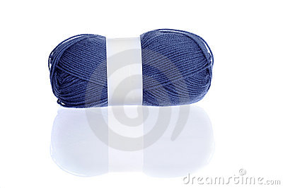 Marine blue knitting yarn