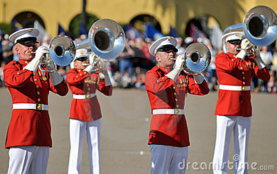 Marine Corp Marching Band Editorial Photo