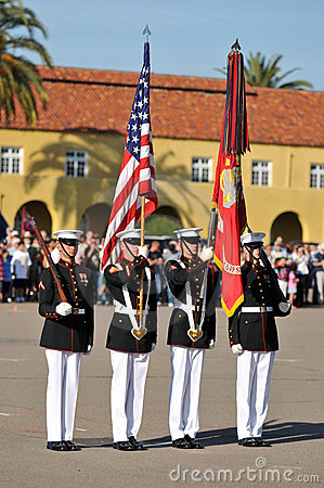Marine Corps Color Guard Editorial Image