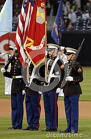 Marine Corps Color Guard Editorial Photo