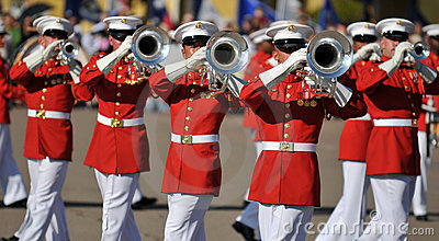 Marine Corps Marching Band Editorial Image
