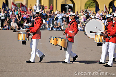 Marine Corps Marching Band Editorial Photography