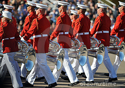 Marine Corps Marching Band Editorial Photo
