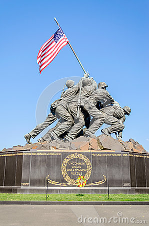 Free Marine Corps War Memorial Royalty Free Stock Photo - 32328535