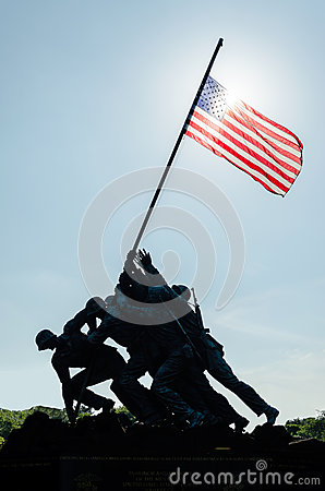 Free Marine Corps War Memorial Stock Photography - 32328592