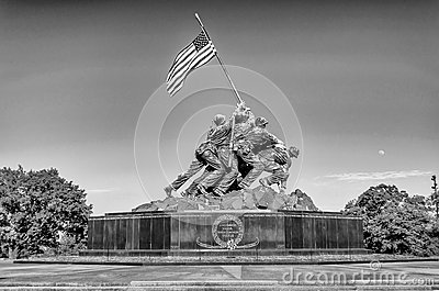Marine Corps War Memorial Editorial Stock Image