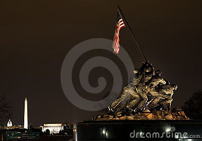 The Marine Corps War Memorial Washington DC