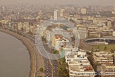 Marine Drive and Downtown Mumbai