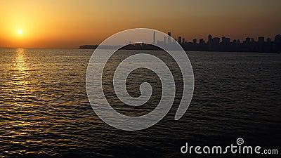 Marine Drive at sunset. Mumbai, India