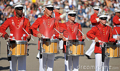 Marine Drums Editorial Photography