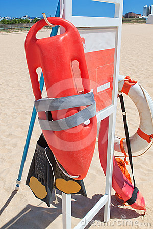 Marine Equipment lifeguard at the beach.