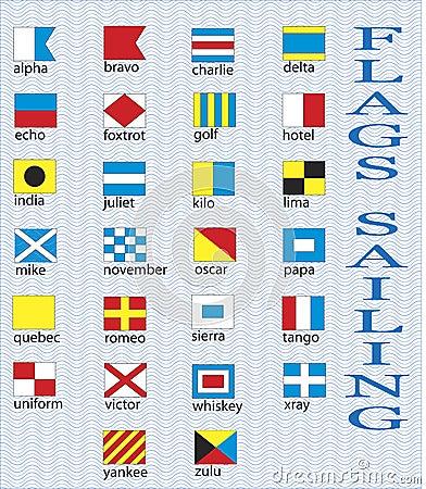 Marine flags.