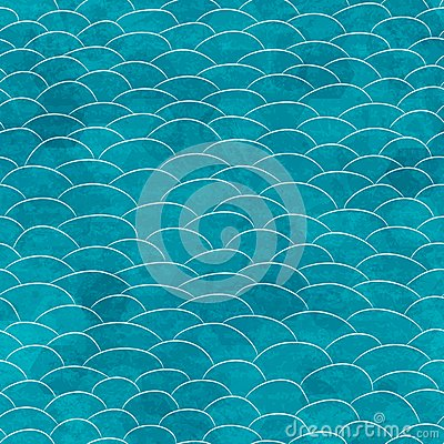 Marine grunge seamless pattern