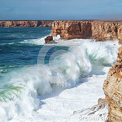 Free Marine Huge Wave Goes Ashore. Stock Photography - 28499982