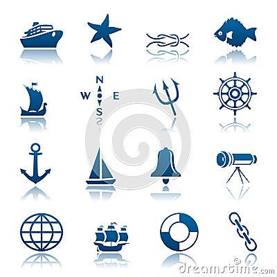 Free Marine Icon Set Royalty Free Stock Images - 14194989