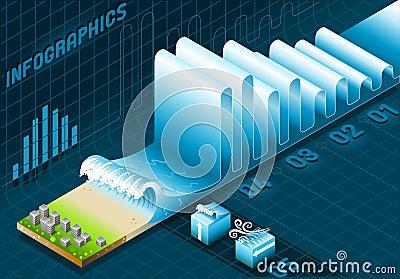 Marine info graphic set elements