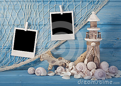 Marine life decoration and  instant photos