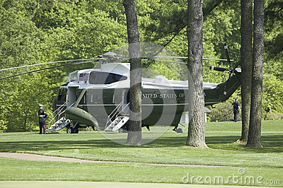 Marine One Presidential Helicopter Editorial Photography