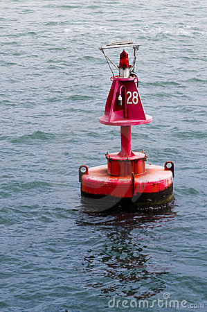 Marine red buoy