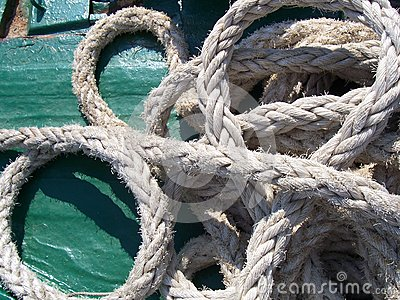 Marine rope exposure on board a ship