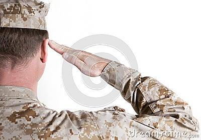 Marine Saluting