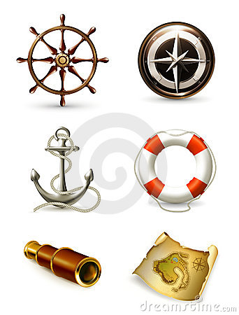 Marine set, high quality icons