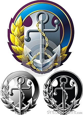 Marine style emblem