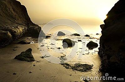 Marine sunrise scenic at Half Moon Bay