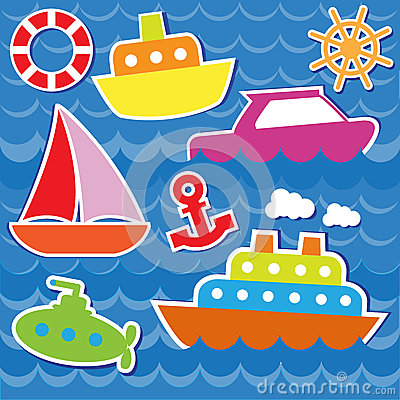 Marine transport stickers