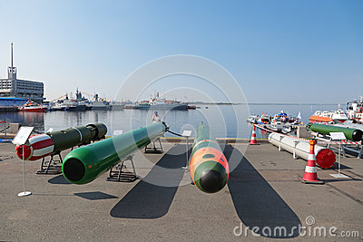 Marine underwater weapons Editorial Stock Image