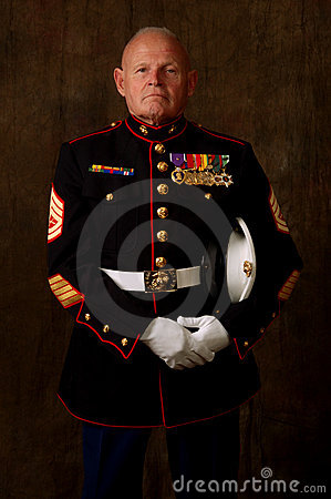Free Marine Veteran Royalty Free Stock Photo - 2482475