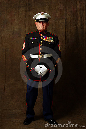 Free Marine Veteran Royalty Free Stock Photos - 2485508