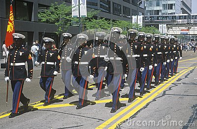 Marines Marching Editorial Image