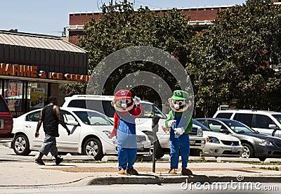 Mario Bros and Luiggy Editorial Stock Photo