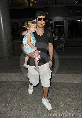 Mario Lopez with niece at LAX Editorial Photography