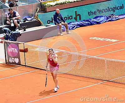 Marion Bartoli chez Mutua Madrid ouvert Image éditorial