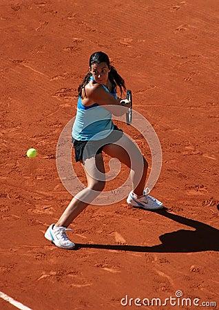 Marion Bartoli (FRA) at Roland Garros 2011 Editorial Stock Photo