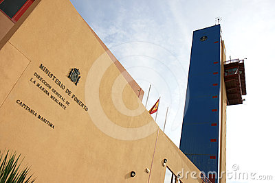 Maritime ministry building in Almeria, Spain Editorial Stock Photo